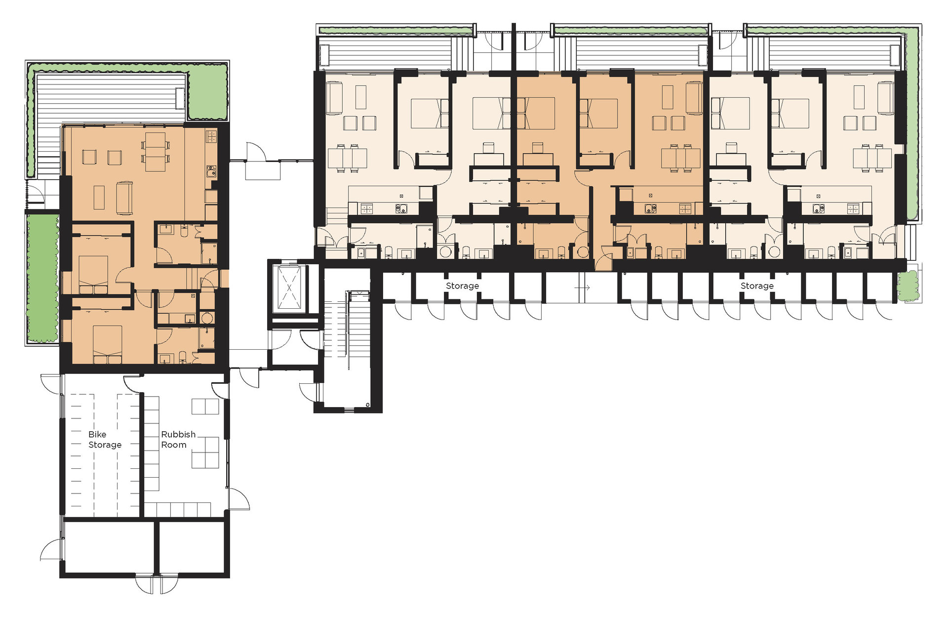 The foundry fletcher living for Apartment floor plans nz