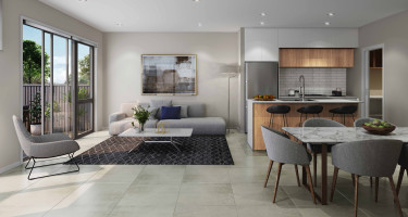 Artist impression - Terrace - Kitchen/living/dining